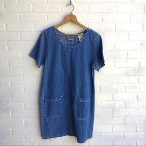 Vintage 90's Denim Shift Dress